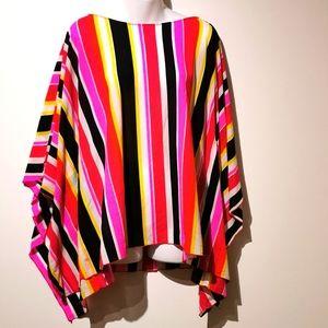 NWT Nygard striped multicolor poncho size l/xl